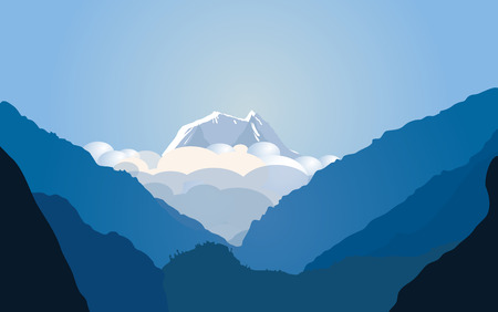 Vector illustration with mountains Vector