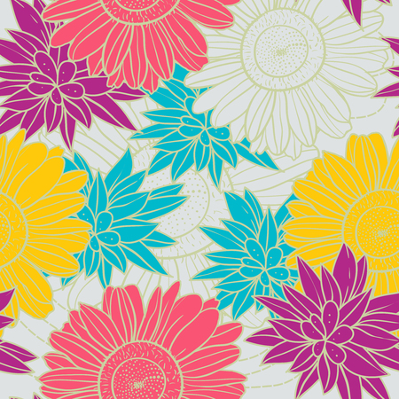 yellowrn: Seamless floral vector pattern Illustration