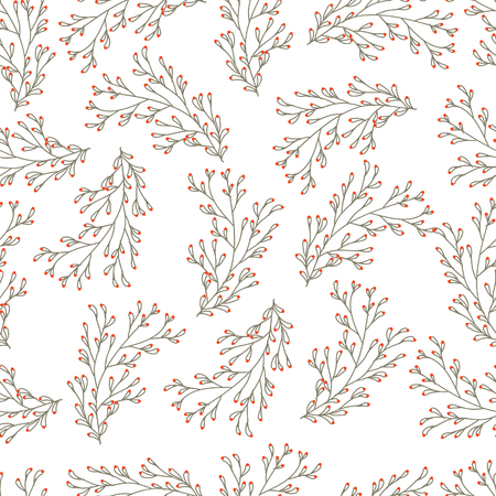 Seamless vector texture with floral pattern Illustration
