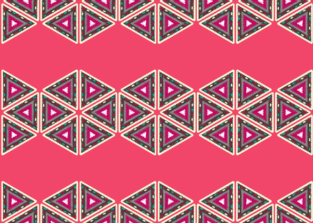 Seamless vector texture with tribal pattern Illustration