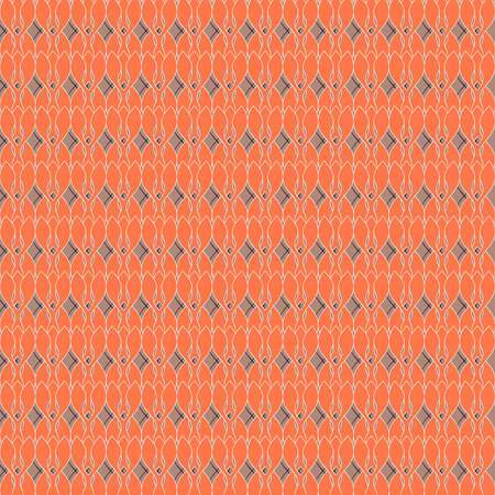 Seamless vector texture with red geometric pattern