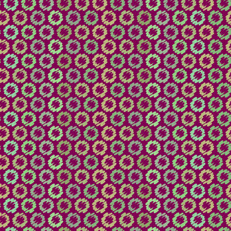 rounded: Seamless Vector Pattern with Rounded shapes Illustration