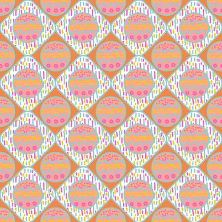 Abstract seamless vector pattern with geometric texture