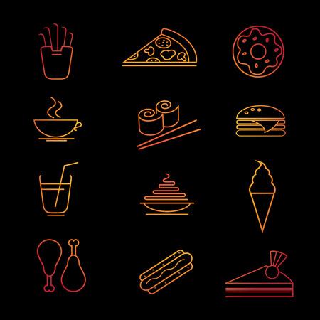 ice tea: Fast food icon set. Vector illustration. Food collection.