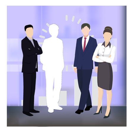 Business concept illustration. Concept for success, motivation in business. Teamwork. Vacancy. Flat style vector business illustration.