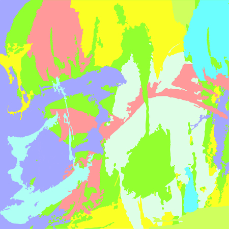 Abstract colorful background. Fantasy paint spots print. Vector illustration. Paint smears. Illustration