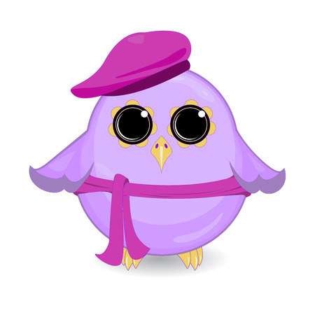 Funny bird cartoon character Illustration