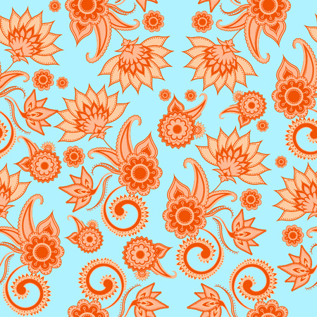 Seamless paisley pattern, vintage pattern with floral elements for textile design