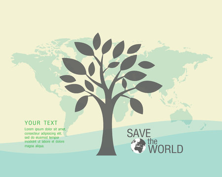 environmental damage: Ecological and save the world green