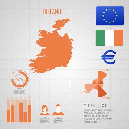 European flag  World Map  Travel vector Illustration