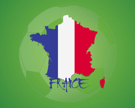 FRANCE vector illustration, map with soccer ball Vector