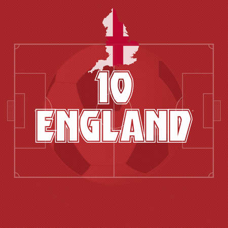 England vector illustration, map with soccer ball Vector