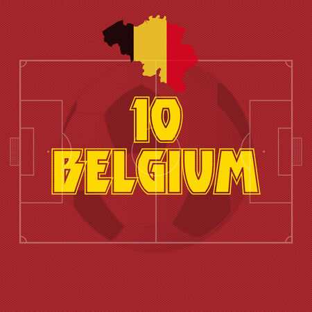 Belgium vector illustration, map with soccer ball Vector