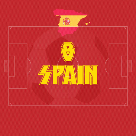 spain vector illustration, map with soccer ball Vector
