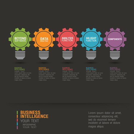 hilight: Business infographic concept