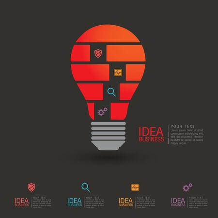 skecth: business idea concept illustration. Illustration