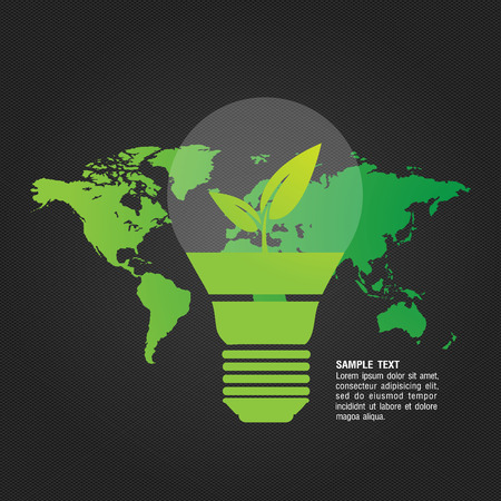 sample environment: Ecological and save the world green concept
