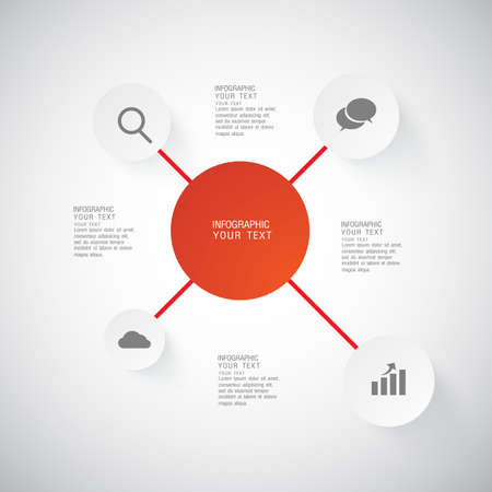 keywords link: flat infographic bussiness