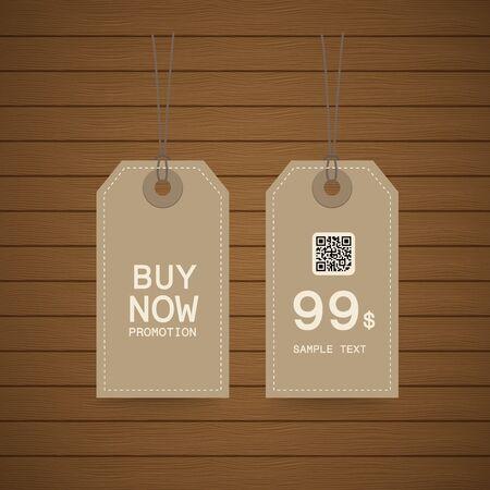 arrivals: Price tag, sale eco design illustration