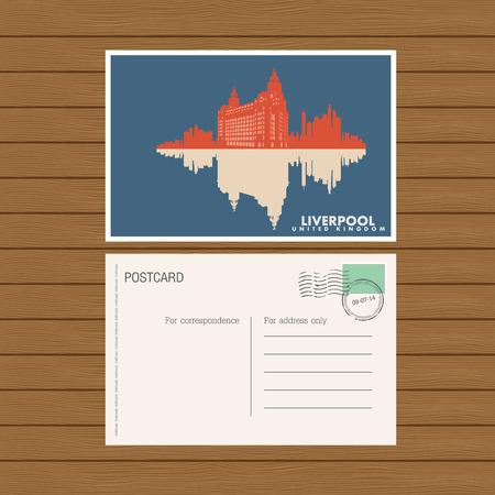 bum: postcard. Vector illustration