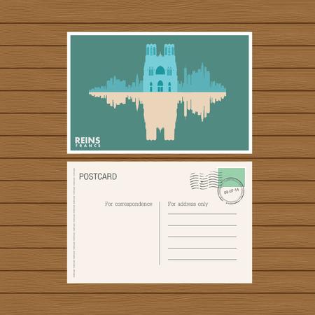 reins: postcard. Vector illustration