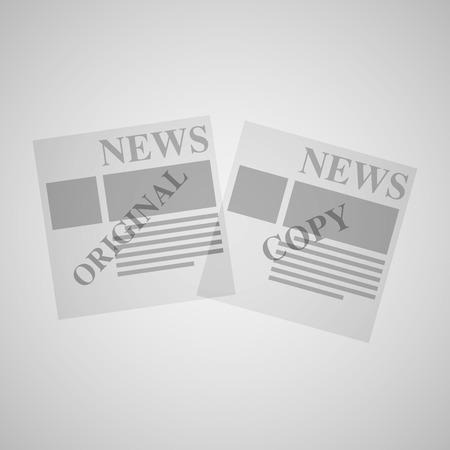 newsprint: Newspaper vector set.