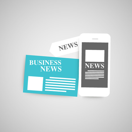 current events: Newspaper vector set.