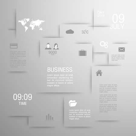 Modern flat icons vector collection business. Vector