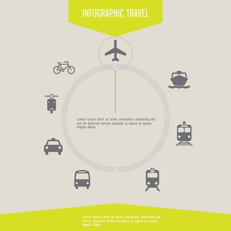Travel infographics with data icons and elements Vector