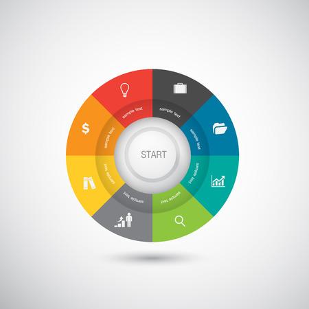 graficas de pastel: Empresas y Marketing Concept
