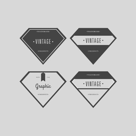 victorian frame: Vector set vintage labels
