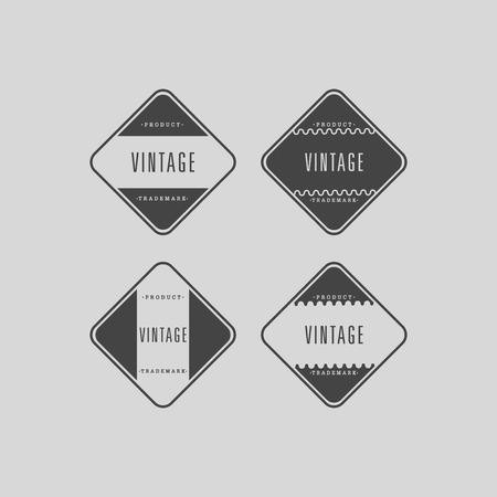 oldfield: Vector set vintage labels