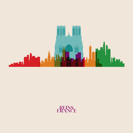 reins: Vector silhouettes of the city