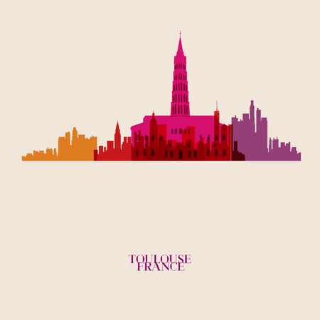 toulouse: Vector silhouettes of the city