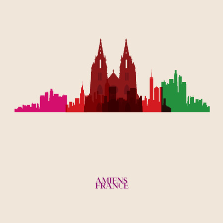 midtown: Vector silhouettes of the city