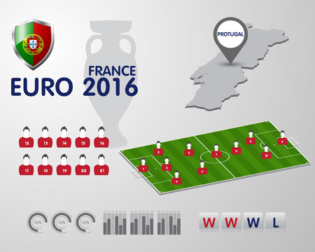 tournament chart: Soccer Championship 2016 EURO infographic elements, football vector background
