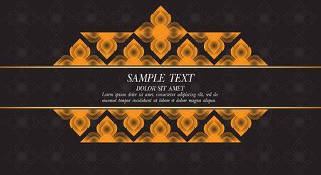 thai silk: Thai Art Background, Thai art pattern vector. Illustration