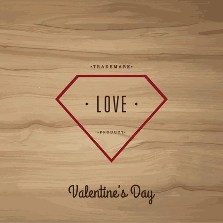 Valentines dayVector set vintage labels