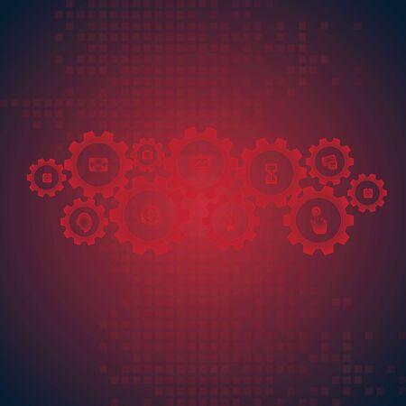 hi speed: abstract vector hi speed internet technology background illustration