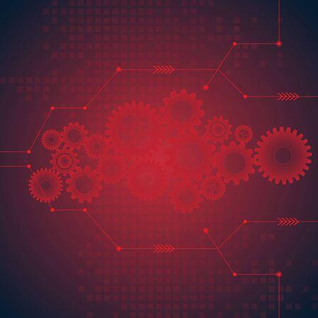 light blue background: abstract vector hi speed internet technology background illustration