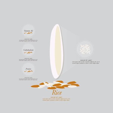 rice vector  イラスト・ベクター素材