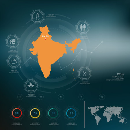 map of india: INDIA map infographic