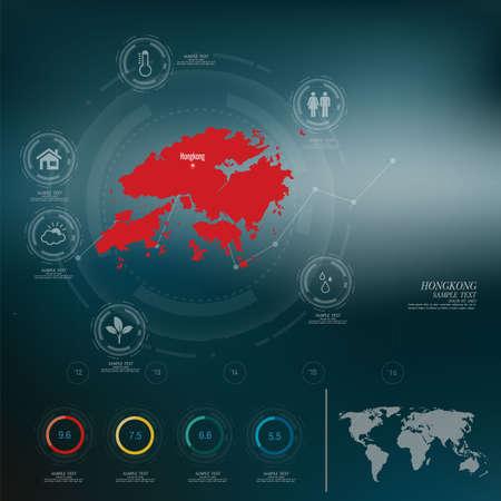hongkong: HONGKONG map infographic