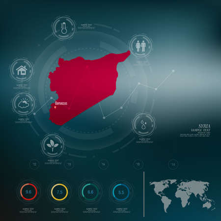 syria: SYRIA map infographic