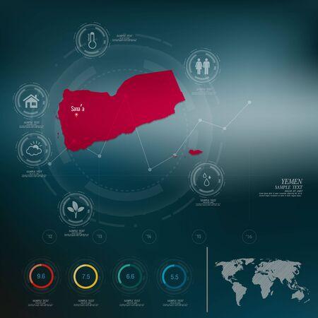 yemen: YEMEN map infographic
