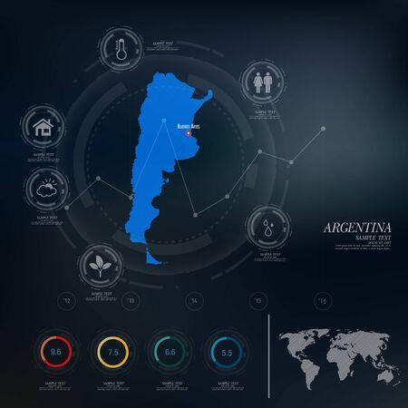 argentina map: ARGENTINA map infographic