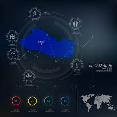 mapa de el salvador: EL SALVADOR mapa infograf�a