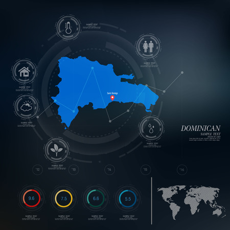 dominican: DOMINICAN map infographic