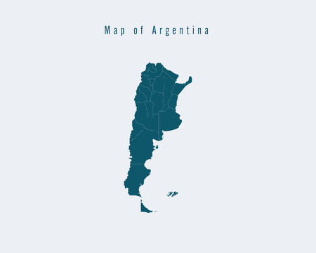 federal states: Modern Map - Argentina with federal states