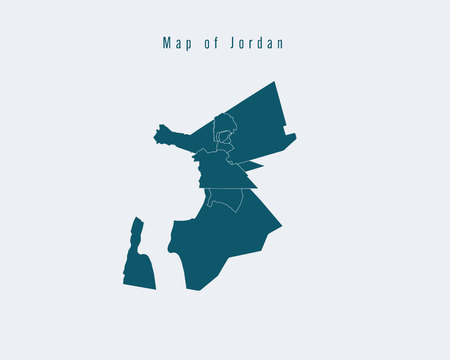 federal: Modern Map - Jordan with federal states